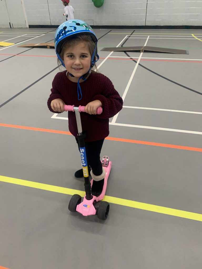 pink 3 wheel scooter